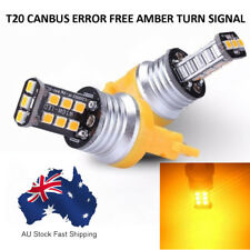 2Pcs Amber T20 7443 2835 15SMD Canbus LED Tail Turn Signal Light Bulbs 12V Hot