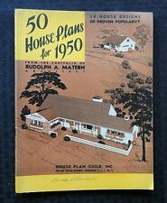 """""""50 HOUSE PLANS FOR 1950"""" RUDOLPH A. MATERN ARCHITECT LONG ISLAND NEW YORK NICE"""
