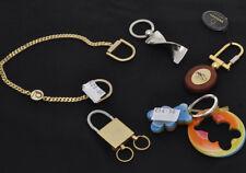 Lotto 5 portachiavi vintage misti metallo, radica, nuovi  01