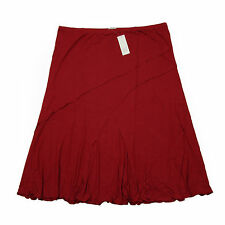 No Pattern Casual Viscose Skirts Plus Size for Women
