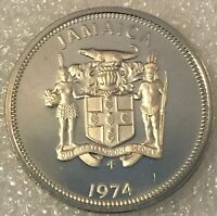 1974 JAMAICA 🇯🇲 10 CENTS PROOF COIN. free combined shipping.