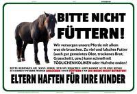 Pferd bitte nicht füttern Blechschild Schild gewölbt Metal Tin Sign 20 x 30 cm