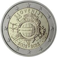Slovenia 2012 Ume Dixième Anniversaire Union Monétaire