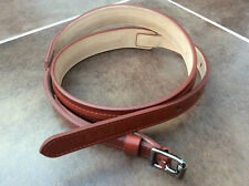 PAUL SMITH CHESTNUT BROWN LEATHER WAIST BELT MADE IN SPAIN SIZE 75cm