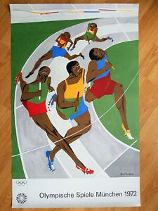 JACOB LAWRENCE Olympische Spiele '72 Plakat Olympic Games ART PRINT - Die Läufer