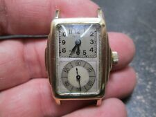 SEELAND DUO-DIAL DOCTORS RUNNING WRIST WATCH STEM COMES OUT
