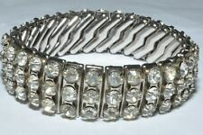 BEAUTIFUL VINTAGE EXPANDING BRACELET SET WITH RHINESTONES