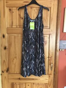 Ladies Grey Summer Dress Size M By Tridagna