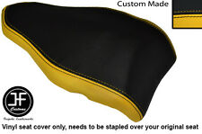 BLACK & YELLOW VINYL DESIGN 2 CUSTOM FITS DUCATI 848 1098 1198 REAR SEAT COVER