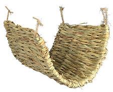 Grassy Hammock for Rats Ferret Rodents Degu Hamster Cage Natural Grass Mat