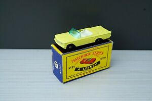 Matchbox Lesney No 39 Pontiac Convertible Bpw Excellent plus Original Box
