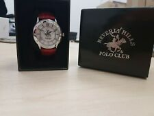 Beverly Hills Polo Club ladies watch in gift box. Red leather strap RRP £75