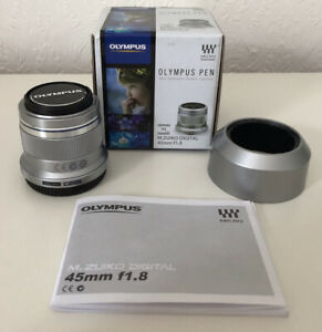 Olympus M.Zuiko V311030SE000 45mm f1.8-22 Digital Telephoto Lens - Silver