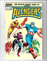 The Official Marvel Index To The Avengers #1 Jun 1987 Marvel Comic.#135471D*7
