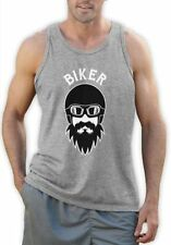 Cotton Graphic Tees Biker T-Shirts for Men