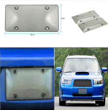 "Pair of 12x6"" Clear Tinted Smoked License Plate Tag Shield Cover and Frame Auto"