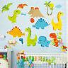 Dinosaur Wall Stickers For Kids Nursery Decor Removable Vinyl Decal Art Mural