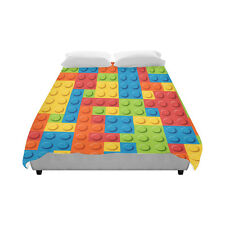 Colorful Lego Blocks Custom Home Bedding Duvet Cover Quilt Cover 86 x 70 Inch