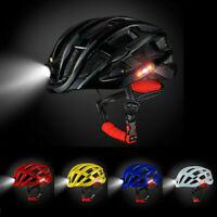 Fahrradhelm MTB Helm Mountainbike Helm Herren & Damen Visier Helmschild + Licht