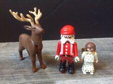 Playmobil Santa Clause, Angel & Reindeer Figures