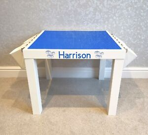 Construction Play Table Blue Base Plates Compatible with brands including Lego