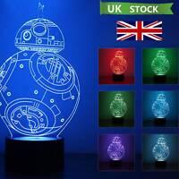 3D LED Lamp - Changing Colours USB Touch Sensor NightLight Desk  Kids Xmas Gift