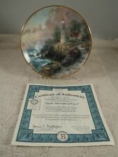 1998 BRADFORD EXCHANGE THOMAS KINKADE'S SIMPLER TIMES APRIL PLATE 16690A