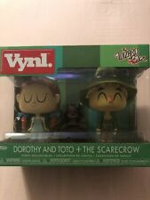 Funko Vynl The Wizard of OZ Dorothy and Toto + The Scarecrow New In Box