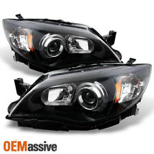 Fit 2008-2011 Impreza Outback 2008-2014 Wrx Halogen Black Projector Headlights (Fits: Subaru)