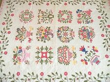 Vintage Embroidered Quilt Multi Cross Stitch Album Embroidered Heirloom Gift