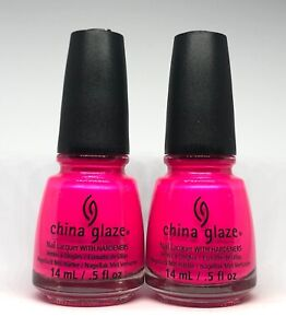 China Glaze Nail Polish PURPLE PANIC 1008 Vibrant Fuchsia Purple-ish Pink Lacq