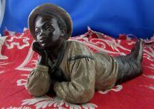 statue terre cuite fin XIXe noir black amor autriche vienne style goldscheider 2