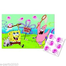 SPONGEBOB SQUAREPANTS Jellyfishing PARTY GAME POSTER ~ Birthday Supplies