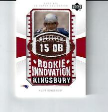 2003 UD Patch Collection Patriots Football Card #124 Kliff Kingsbury RC