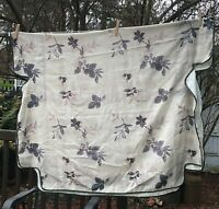 Vintage Bed Canopy Leaf Beige Gray Purple Twin Size
