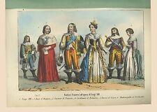 Costumi Luigi XIII Cardinale Richelieu Henri I de Guise Sanvito Milano 1857