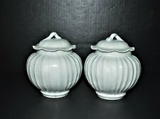 Pair of Southern Song Dy. white glaze porcelain jaws with lid Hutian kiln 南宋湖田窑