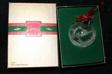 Genuine 1989 Lenox Christmas Lights Round Crystal Ornament Sterling Cap W/Box