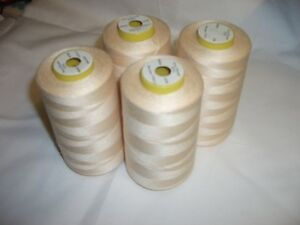 4 CONE 5000 YDS COMETA UNBLEACHED OVERLOCKER SEWING MACHINE THREAD FREE DELIVERY