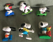 6 Snoopy Peanuts PVC Sports golf Bowling Roller Skate Scooter Skate Board Race