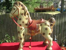 VINTAGE 1940 MOBO PRESSED TIN ROCKING RIDING HORSE TOY MADE IN ENGLAND RARE