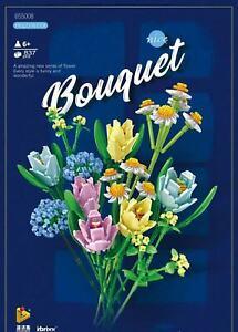 Flower Bouquet Building Blocks Kit (837 Pcs) Botanical Garden New Toy Collection