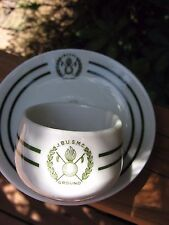 Joint Brazil United States Military Commission 1940s demitasse cup & saucer RARE