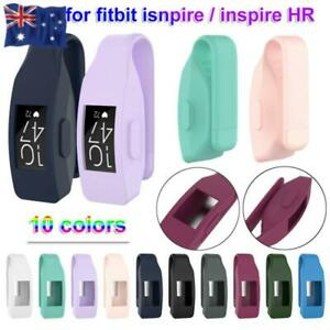 Holder Metal Clip Silicone Cover Watch Case For Fitbit Inspire / Inspire HR