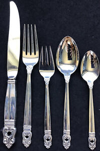 5 PIECE PLACE SETTING STERLING INTERNATIONAL ROYAL DANISH FORKS SPOONS KNIFE EX