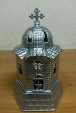 VigilOil Candle Metal Orthodοx Church Desing Metal Cup Included for the oil