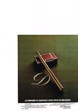 PUBLICITE  1974   DUPONT   briquet & stylo
