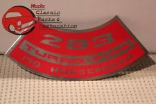 67 Chevy Truck 10 Series 2-Barrel Carb 283 170 HP Air Cleaner Decal