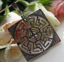 Designer Anhänger von TEKA 925° Silber Sonne 10,4 g sehr edel  Art Déco 1930 A82