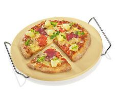 Küchenprofi Pizzastein mit Untersatz ø 30 cm Pizza wie beim Italiener Schamott
